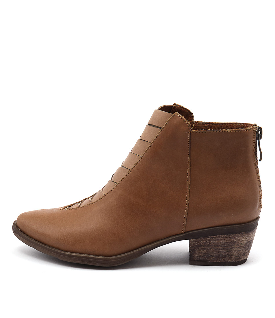 Top End Sermon Tan Multi Casual Ankle Boots