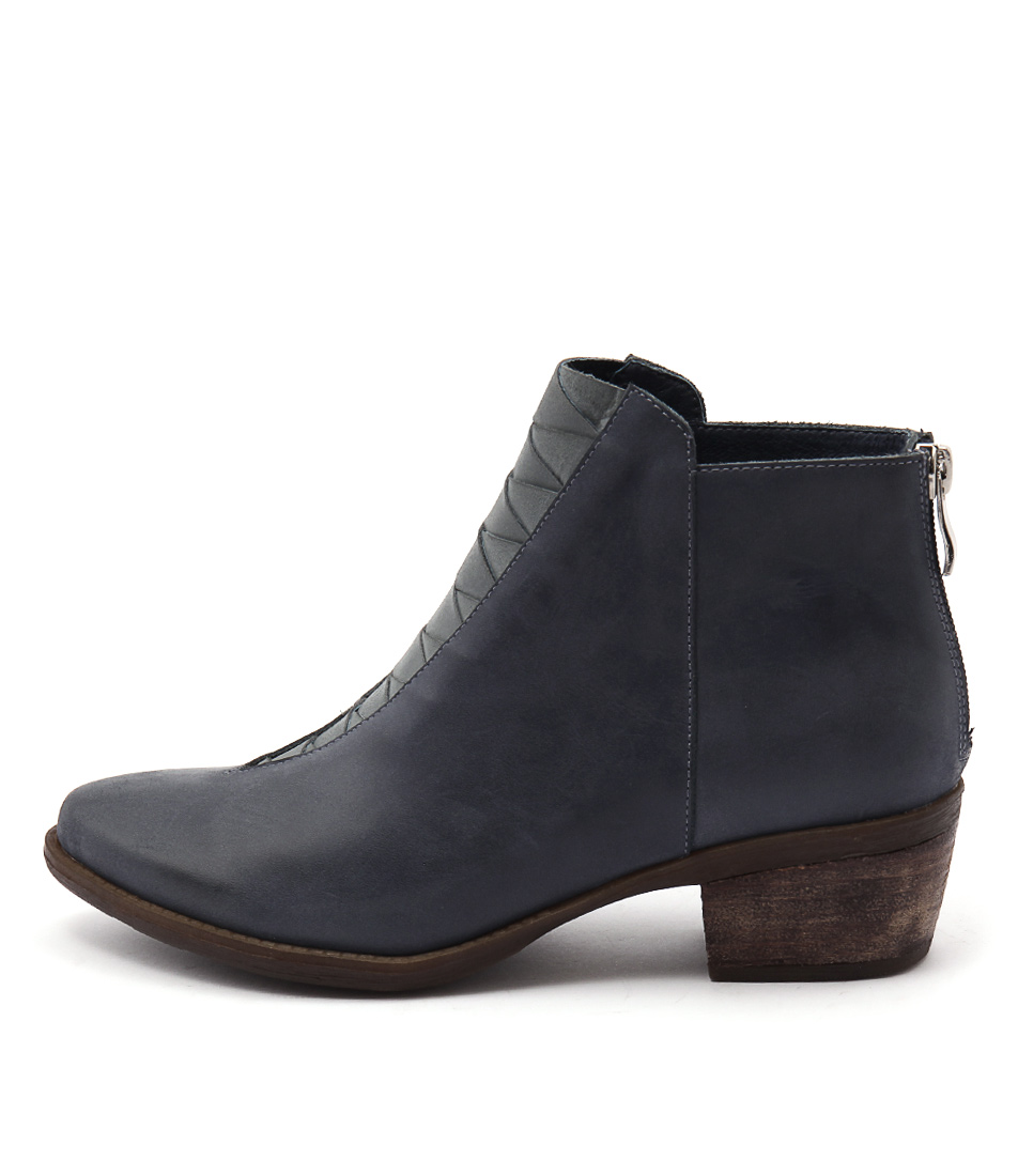 Top End Sermon Navy Multi Casual Ankle Boots