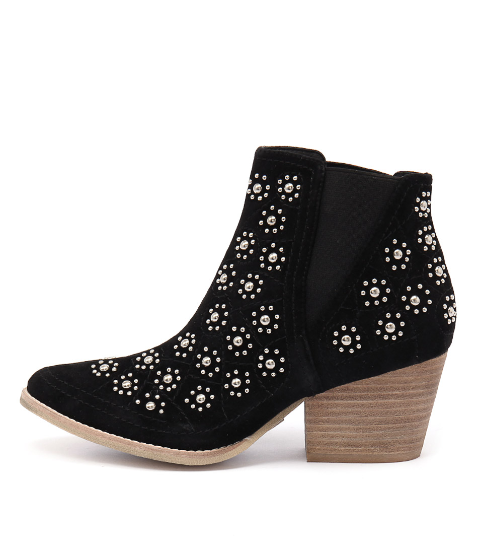 Top End Wando Black Ankle Boots
