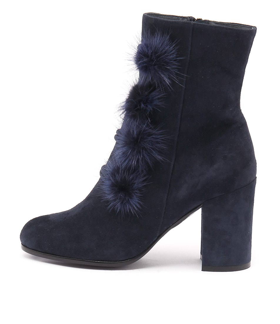 Top End Werla Navy Casual Ankle Boots