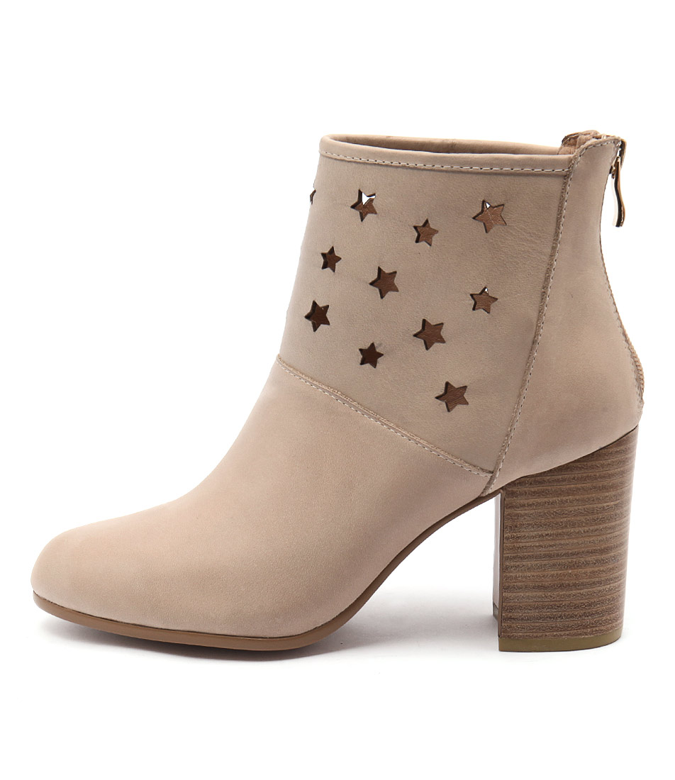 Top End Wealth Dk Beige Ankle Boots