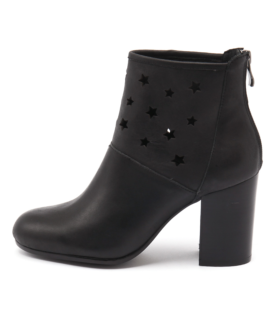 Photo of Top End Wealth Black Ankle Boots, shop Top End ankle boots online