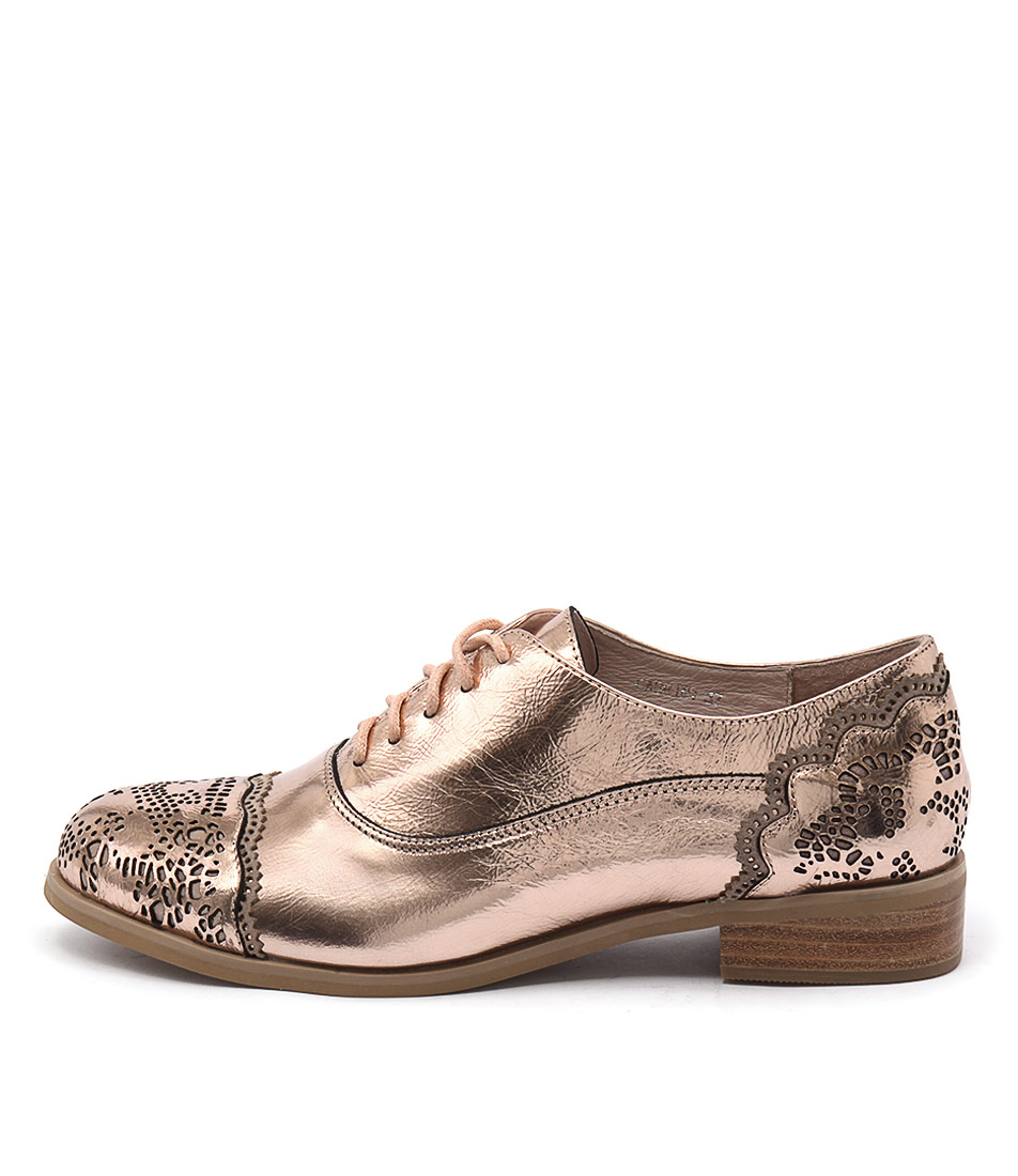 Top End Cabrini Rose Gold Pink Flat Shoes