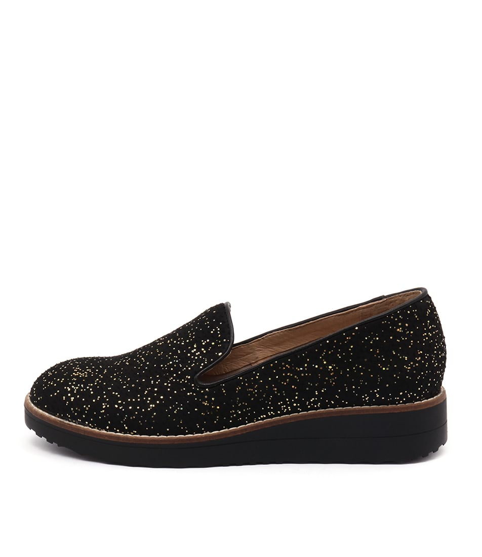 buy Top End Olus Black & Gold Flat Shoes shop Top End Flats online