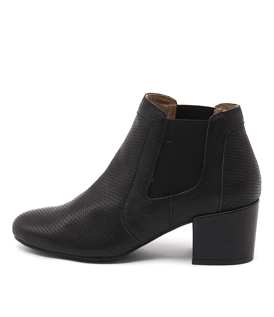 Top End Paulas Black Casual Ankle Boots