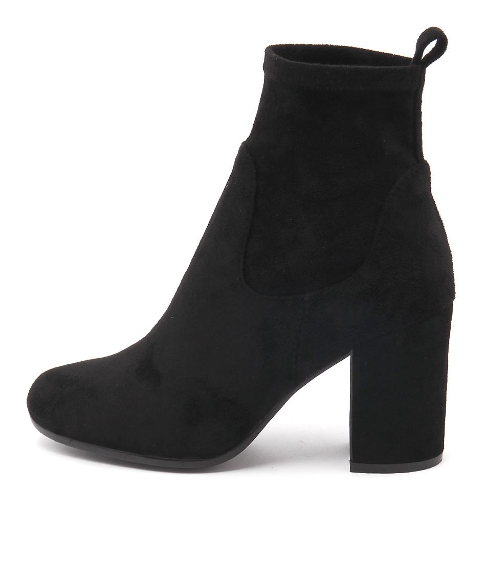 Top End Wendel Black Ankle Boots