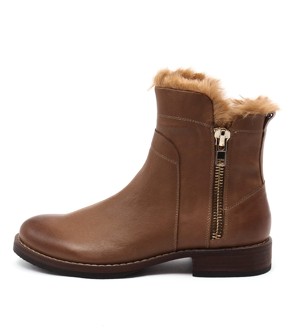 Top End Uncuff Tan Ginger Ankle Boots