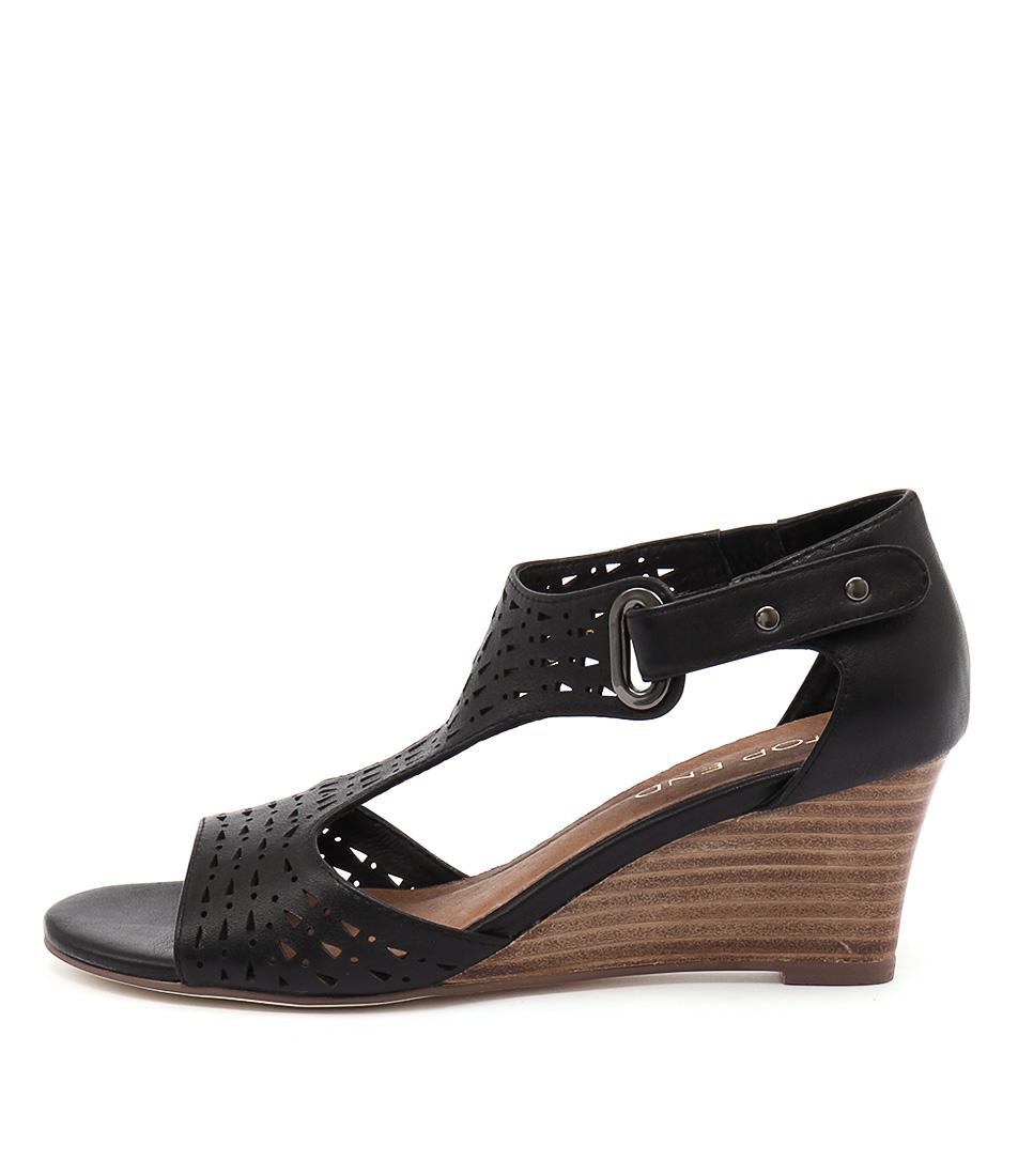 Top End Udukka Black Dress Heeled Sandals