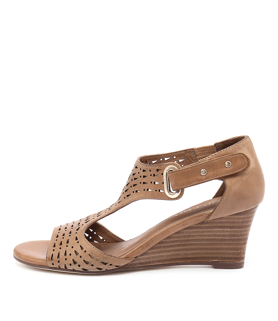 Top End Udukka Tan Heeled Sandals
