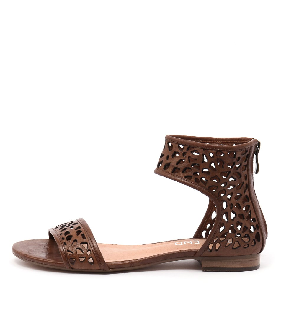Top End Perfecto Tan Casual Flat Sandals