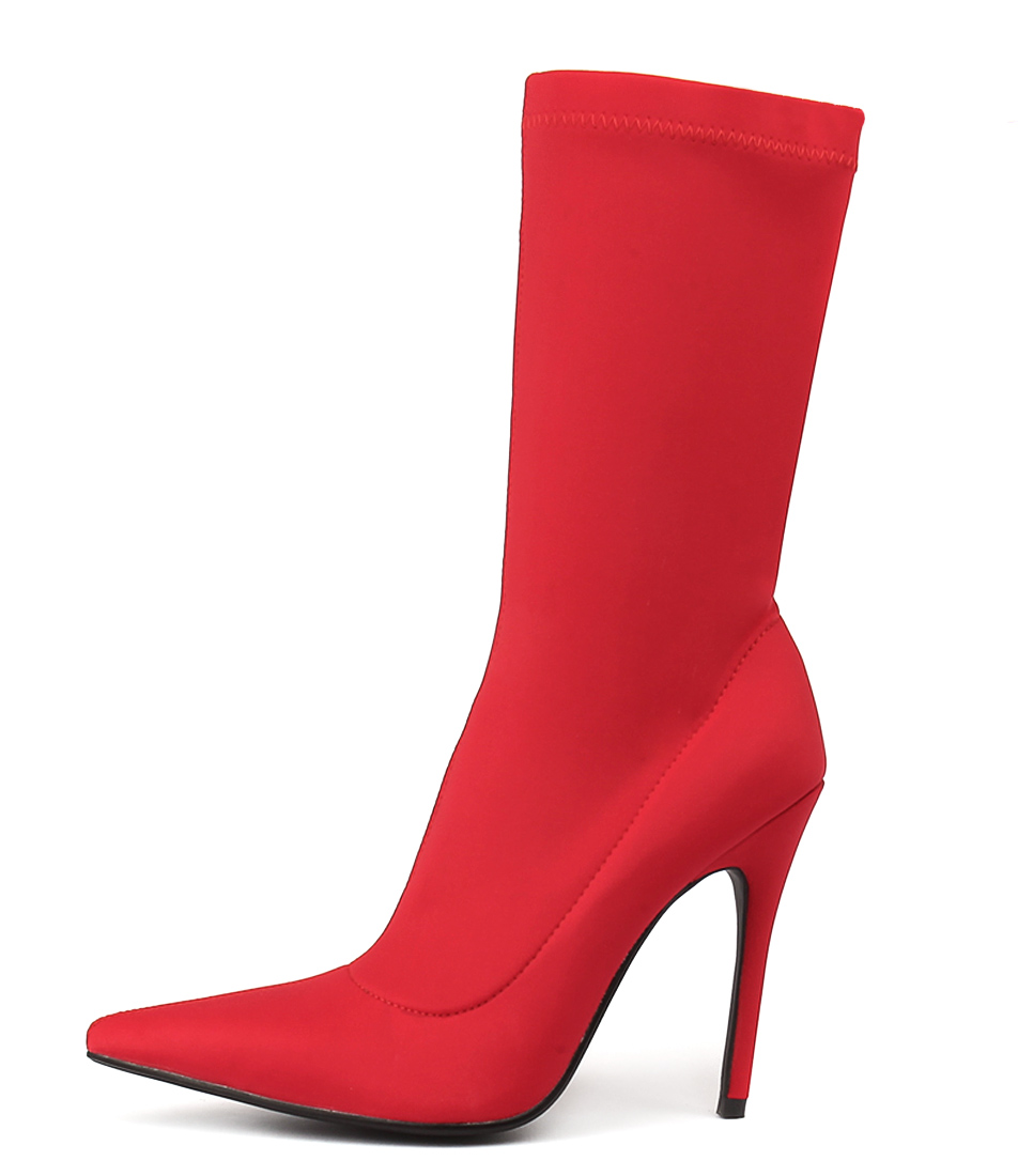 Buy Tres Jolie Jezzie Red Calf Boots online with free shipping