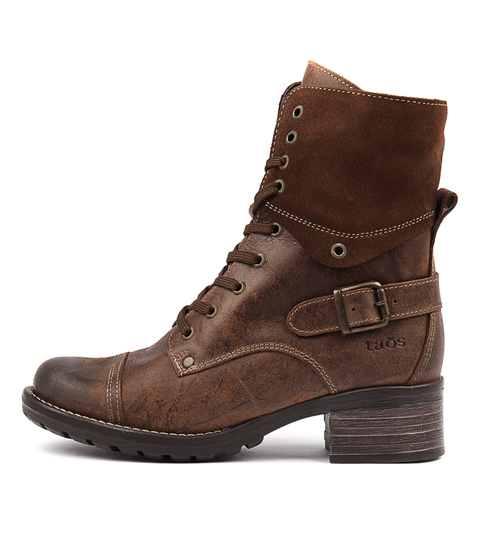 Taos Crave Brown Ankle Boots
