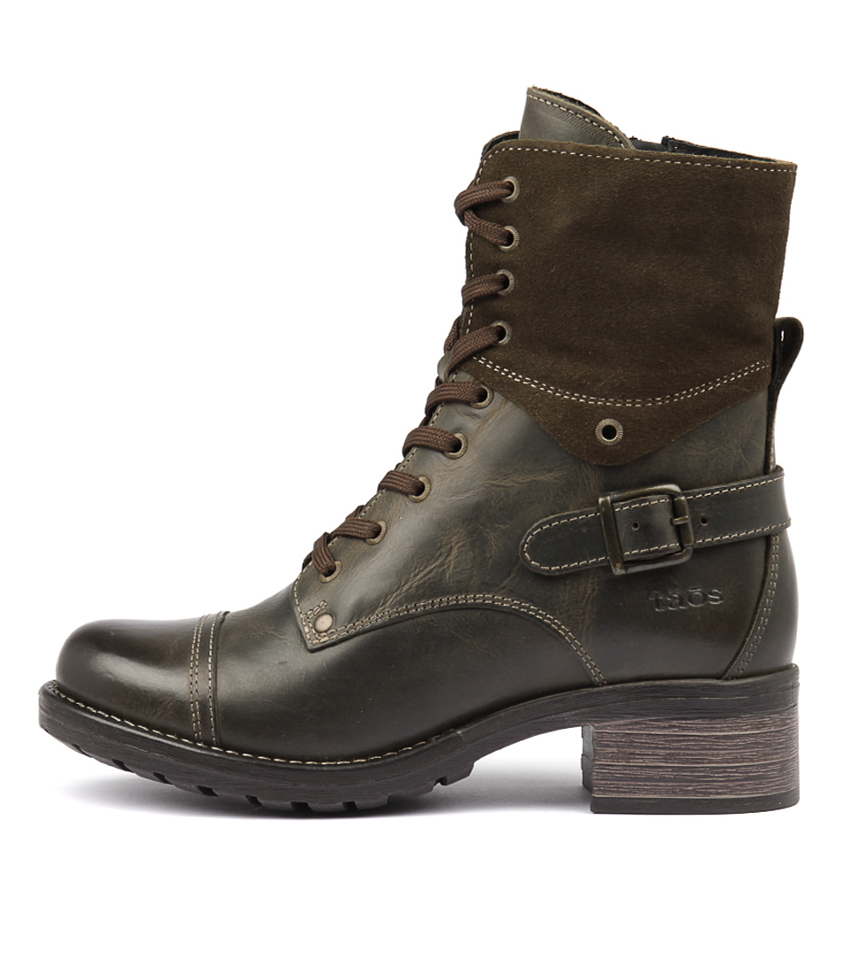 Taos Crave Olive Ankle Boots