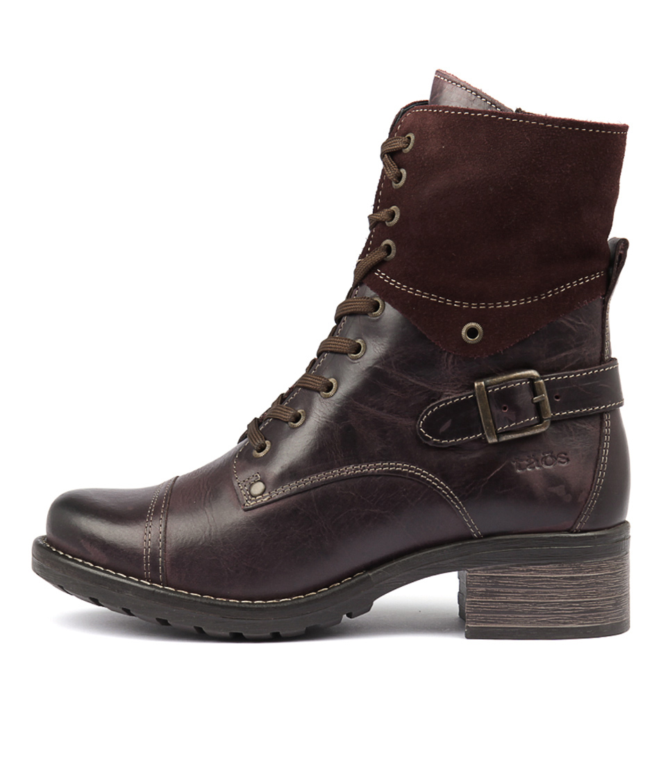 Taos Crave Bordeaux Ankle Boots