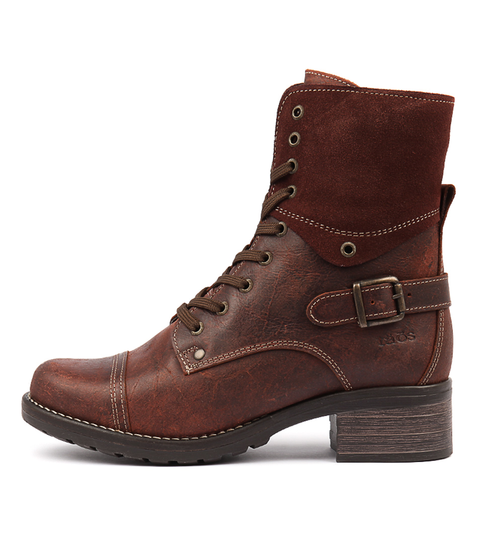 Taos Crave Brick Ankle Boots