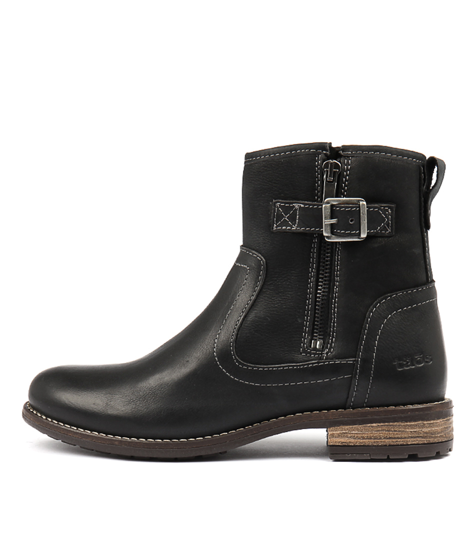 Taos Convoy Black Ankle Boots
