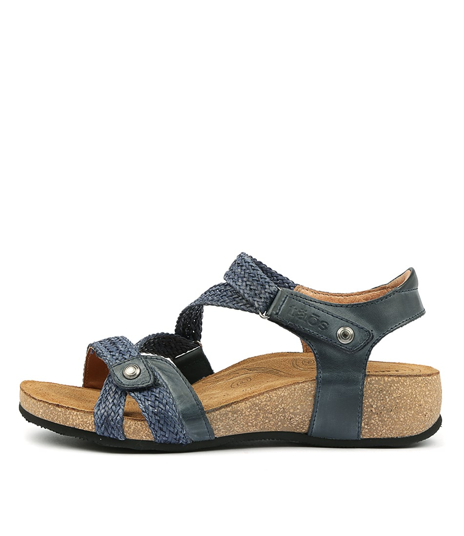 Buy Taos Trulie Navy Flat Sandals online with free shipping