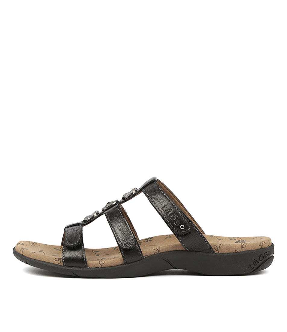 Buy Taos Prize 3 Black Flat Sandals online with free shipping