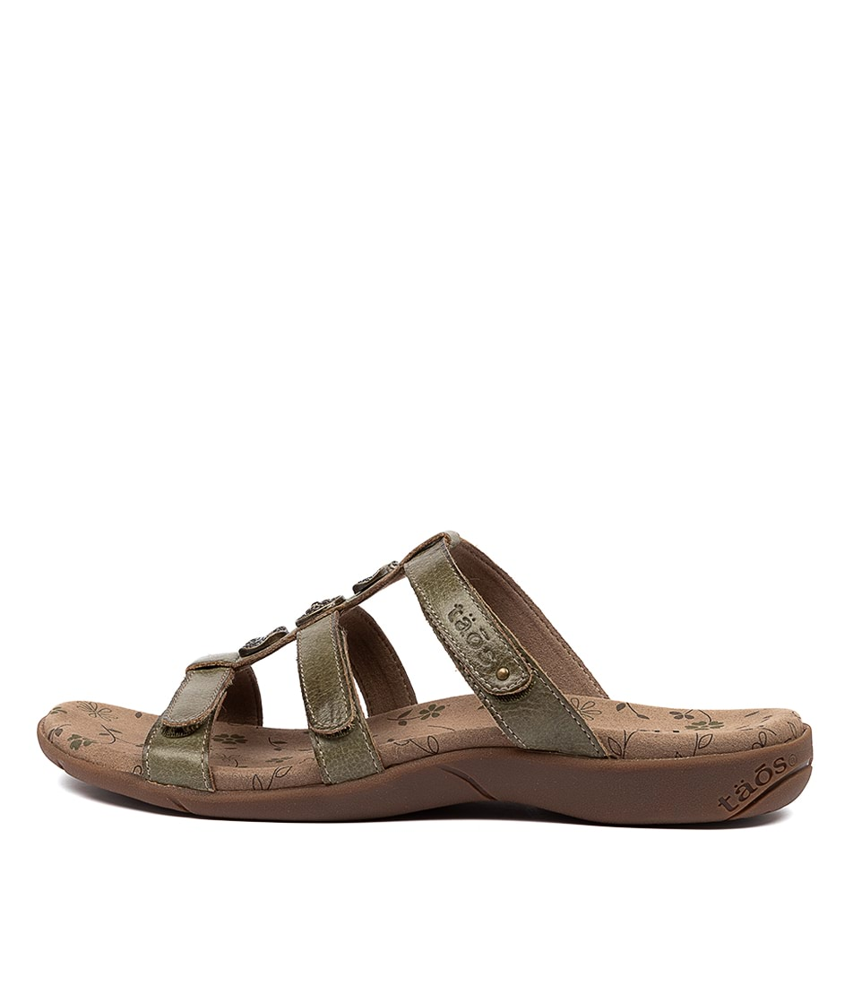 Buy Taos Prize 3 Green Sandals online with free shipping