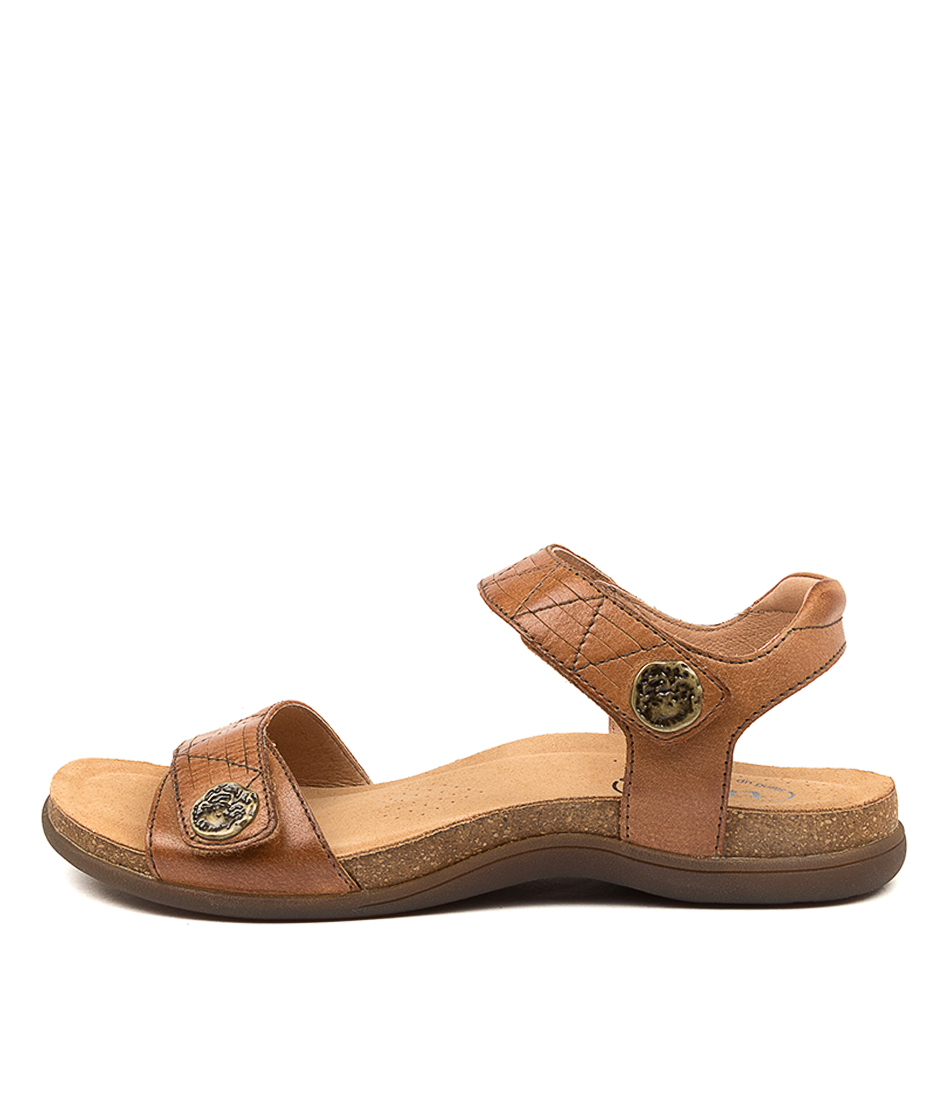 Buy Taos Pioneer Ts Tan Flat Sandals online with free shipping