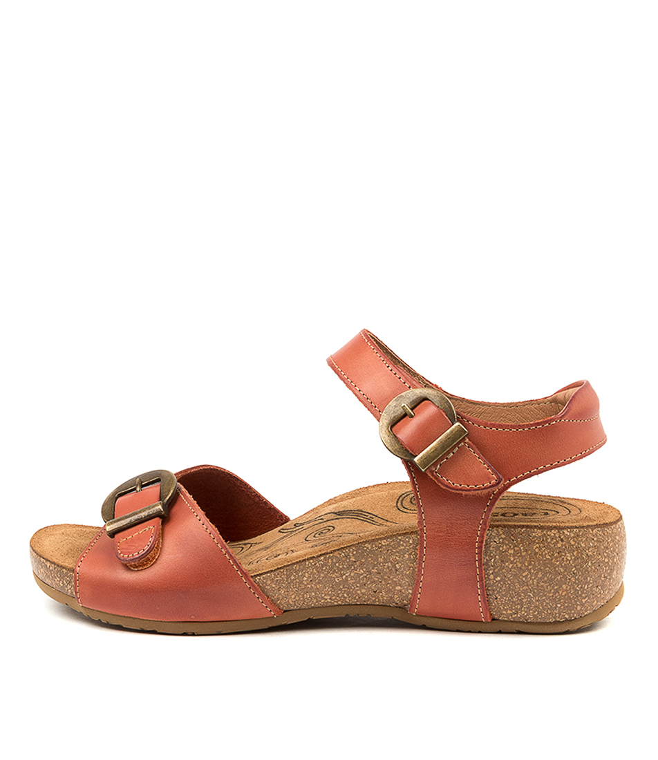 Buy Taos Vera Ts Orange Flat Sandals online with free shipping