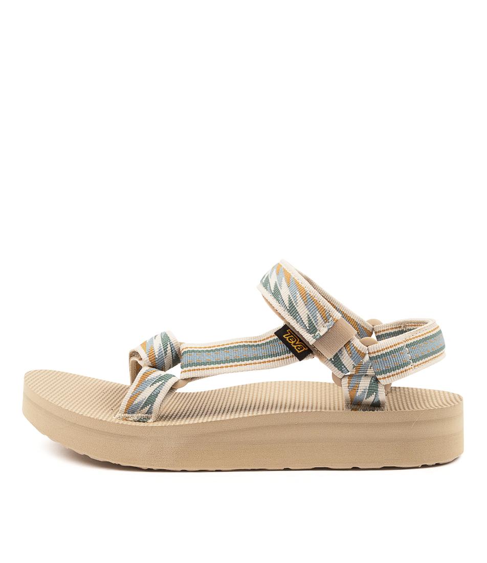 Buy Teva W Midform Universal Tv Bolt Light Flat Sandals online with free shipping