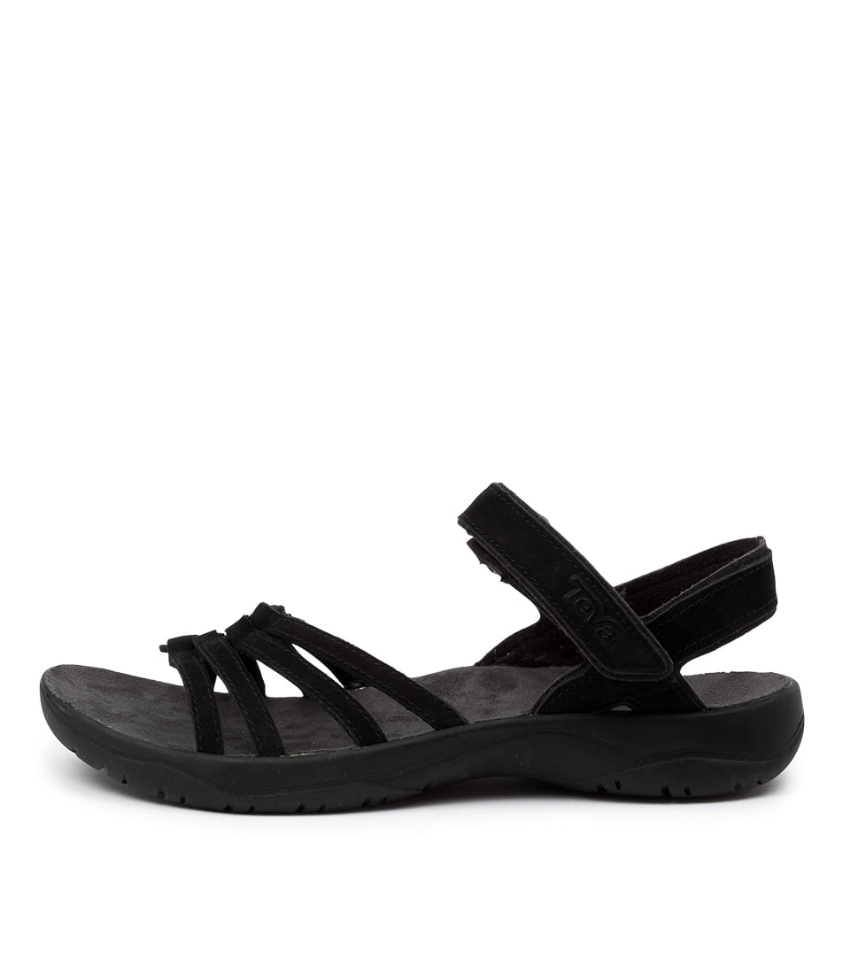 Buy Teva Elzada Tv Black Flat Sandals online with free shipping