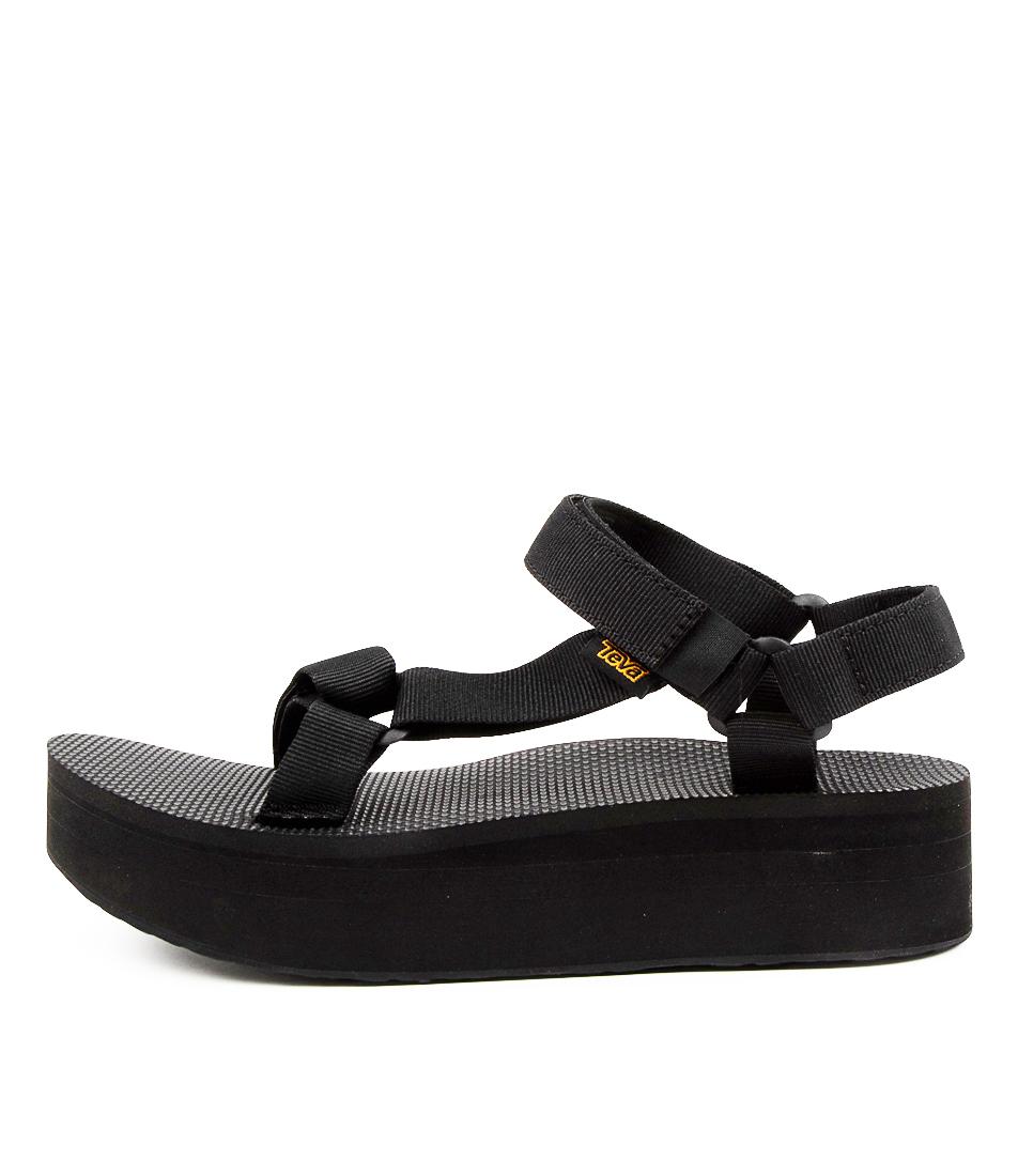 Buy Teva W Flatform Universal Tv Black Flat Sandals online with free shipping