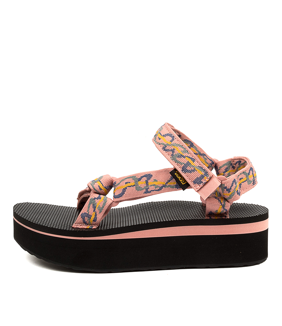 Buy Teva W Flatform Universal Tv Ziggy Rose Flat Sandals online with free shipping