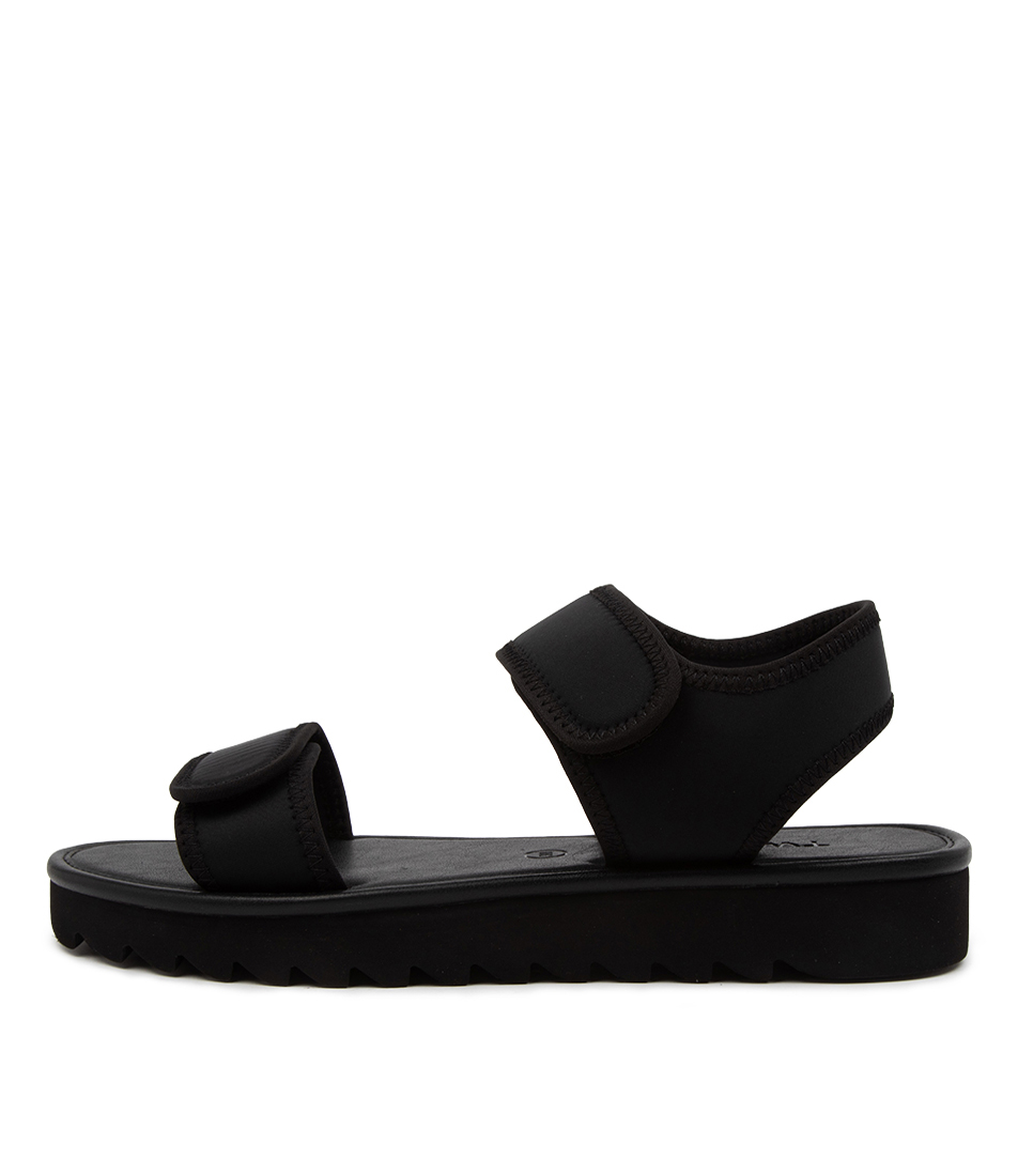 Buy Twoobs Jett Jaya Tw Black Flat Sandals online with free shipping