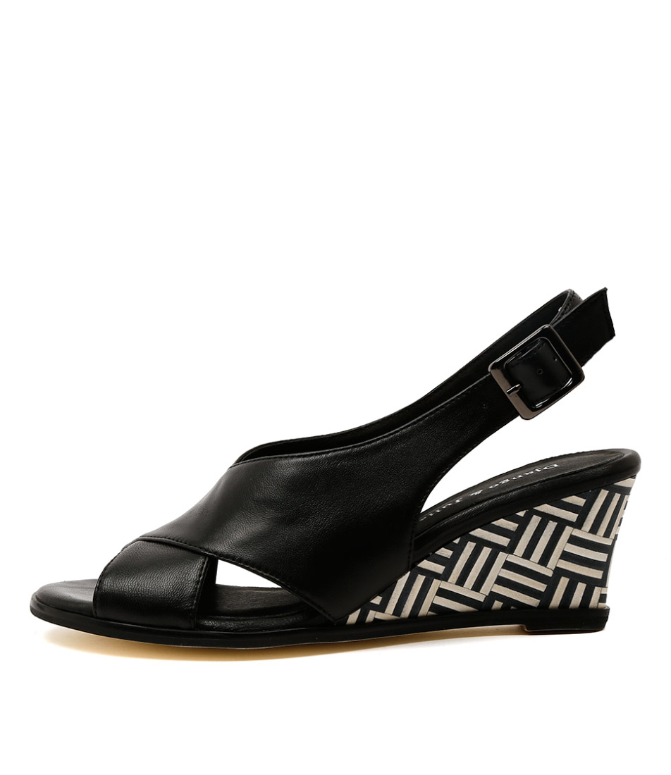 Django & Juliette Ulohin Black Multi Heel Heeled Sandals