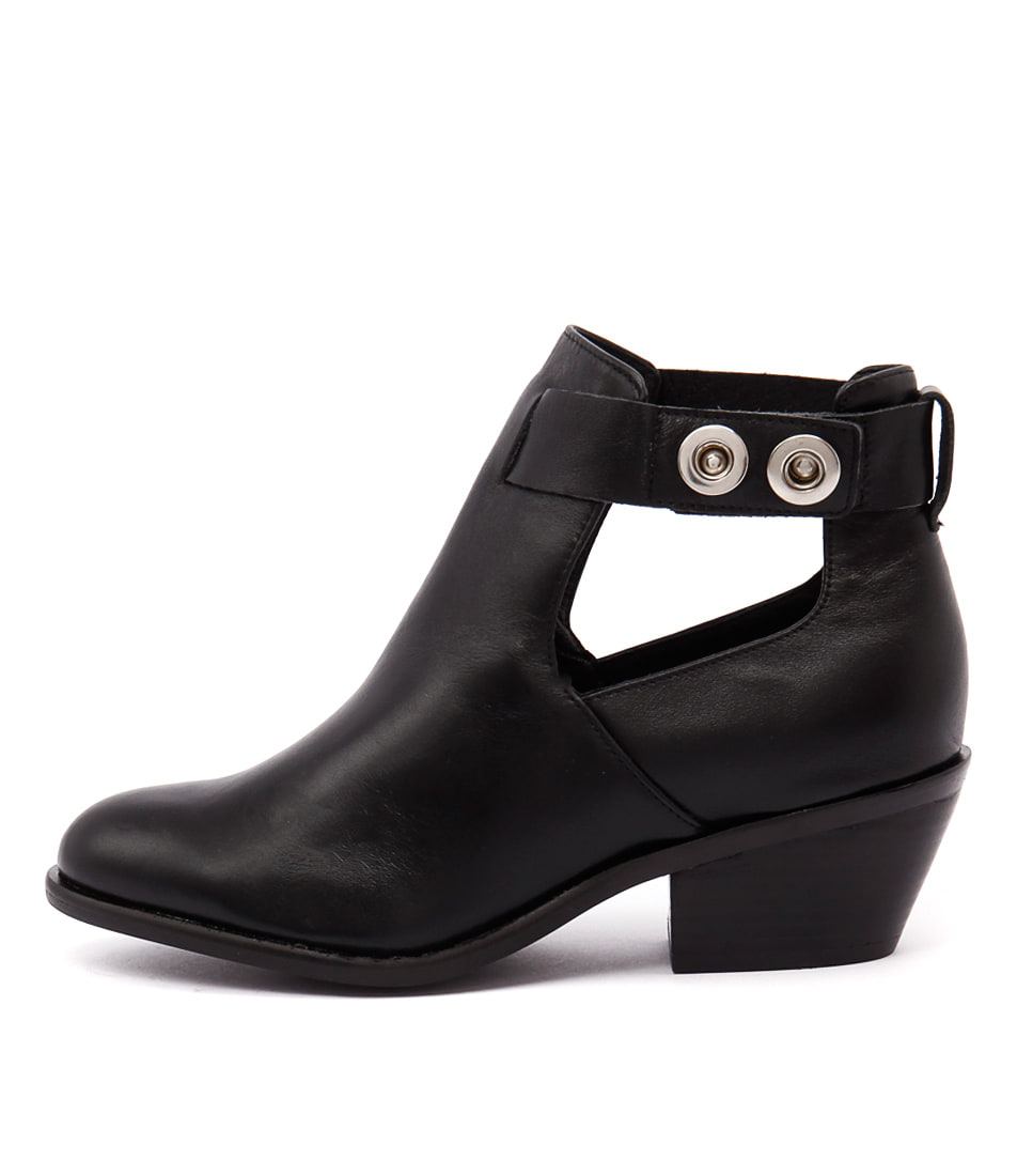 Urge Cheree Black Casual Ankle Boots