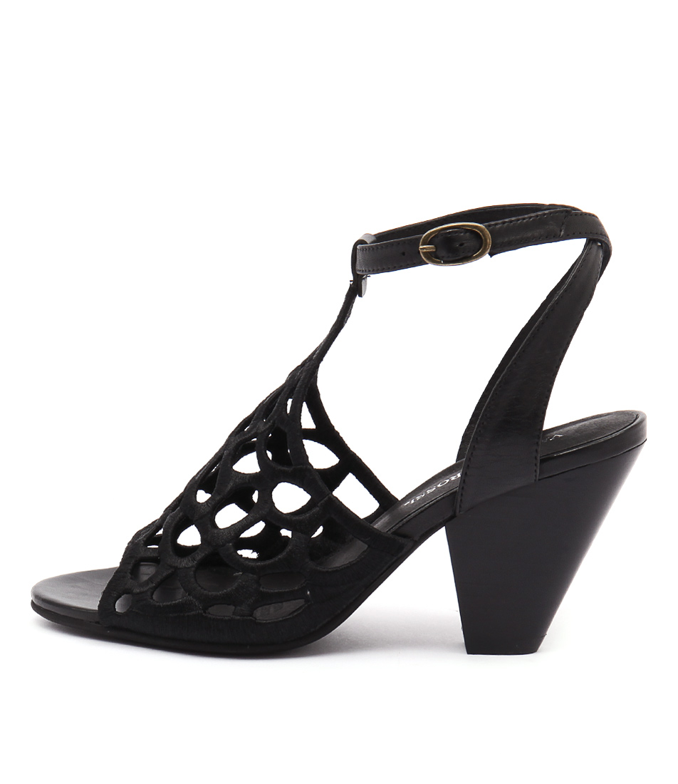 Valeria Grossi Malin W Black Black Sandals