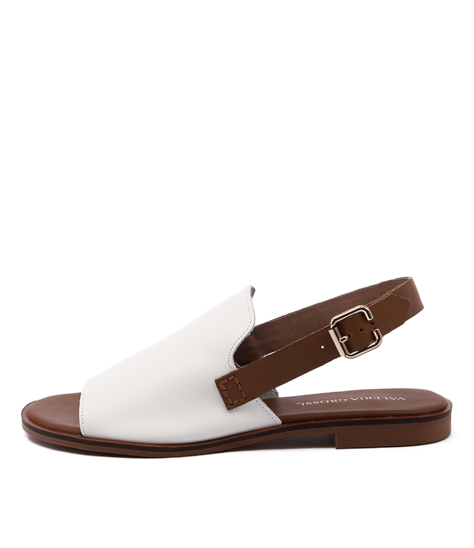 Valeria Grossi Jojo White Casual Flat Sandals