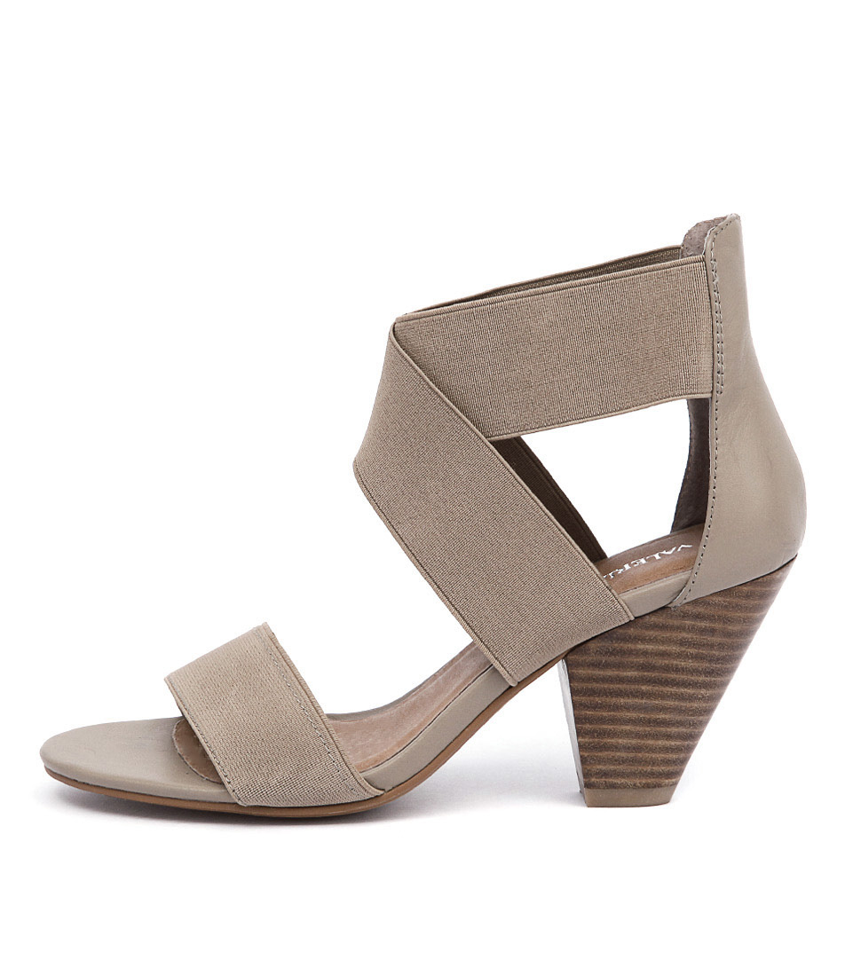 Valeria Grossi Macklin W Taupe Casual Heeled Sandals