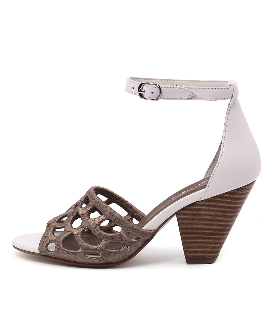 Valeria Grossi Mais Taupe White Sandals