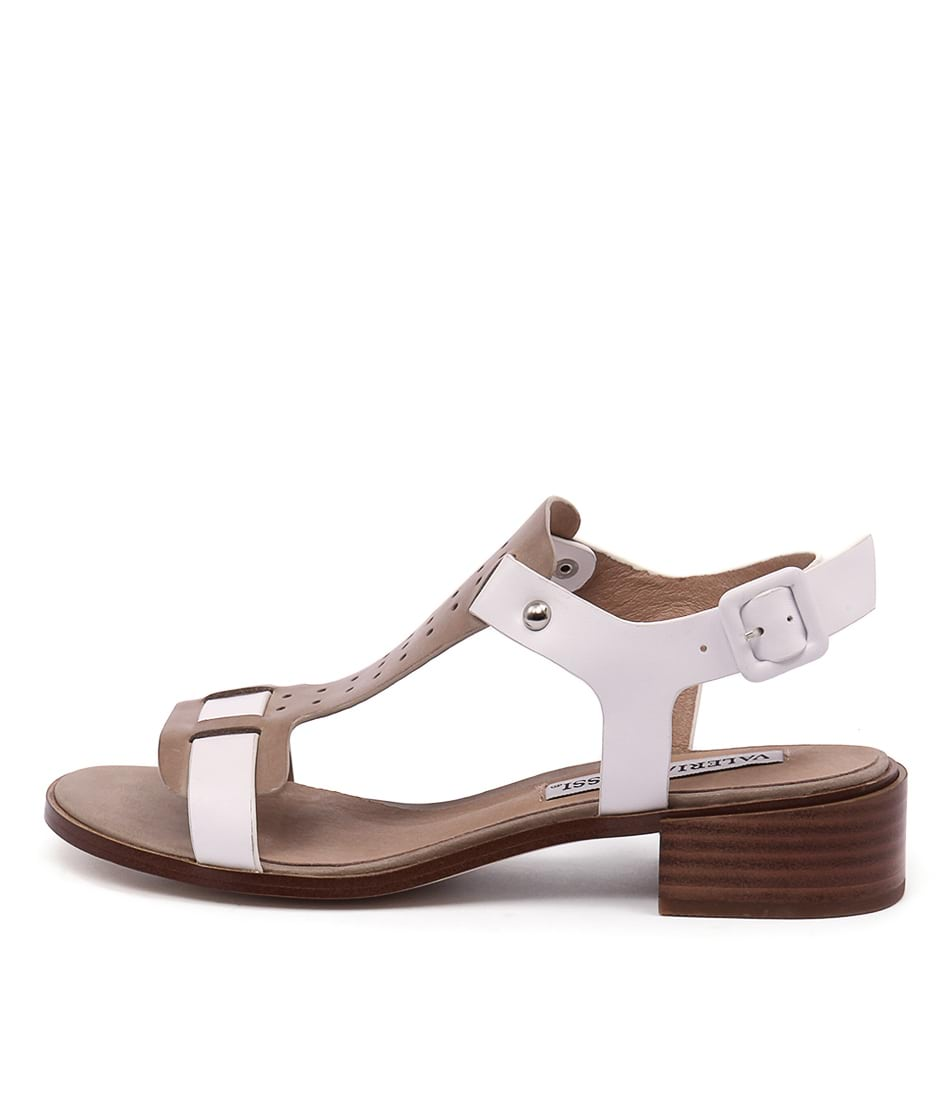 Valeria Grossi Faye Vg Taupe White Sandals