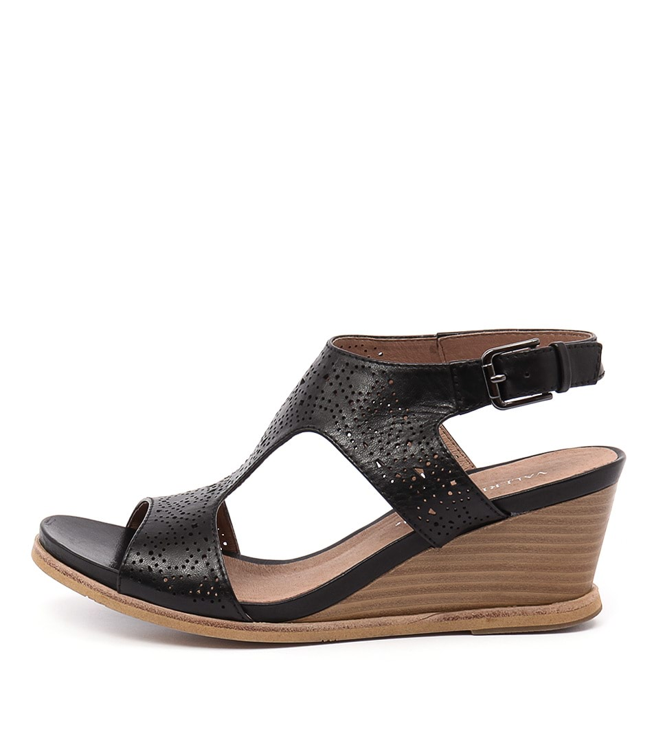 Valeria Grossi Tolsa Vg Black Casual Heeled Sandals