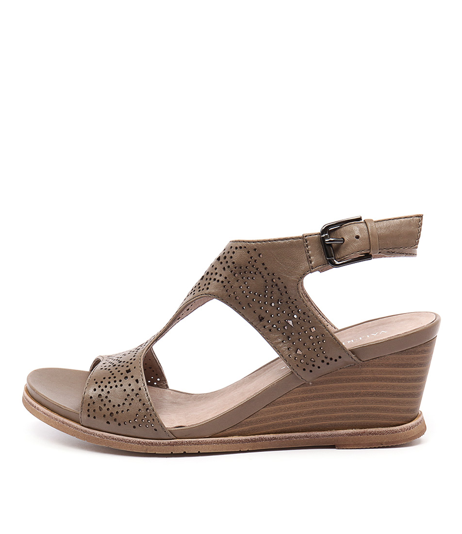 Valeria Grossi Tolsa Vg Camel Casual Heeled Sandals