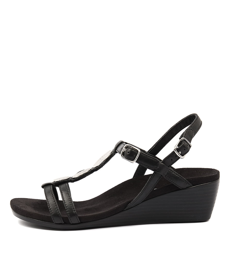 Vionic Park Noleen Black Heeled Sandals
