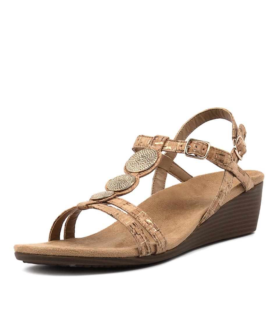 Vionic Park Noleen Gold Sandals
