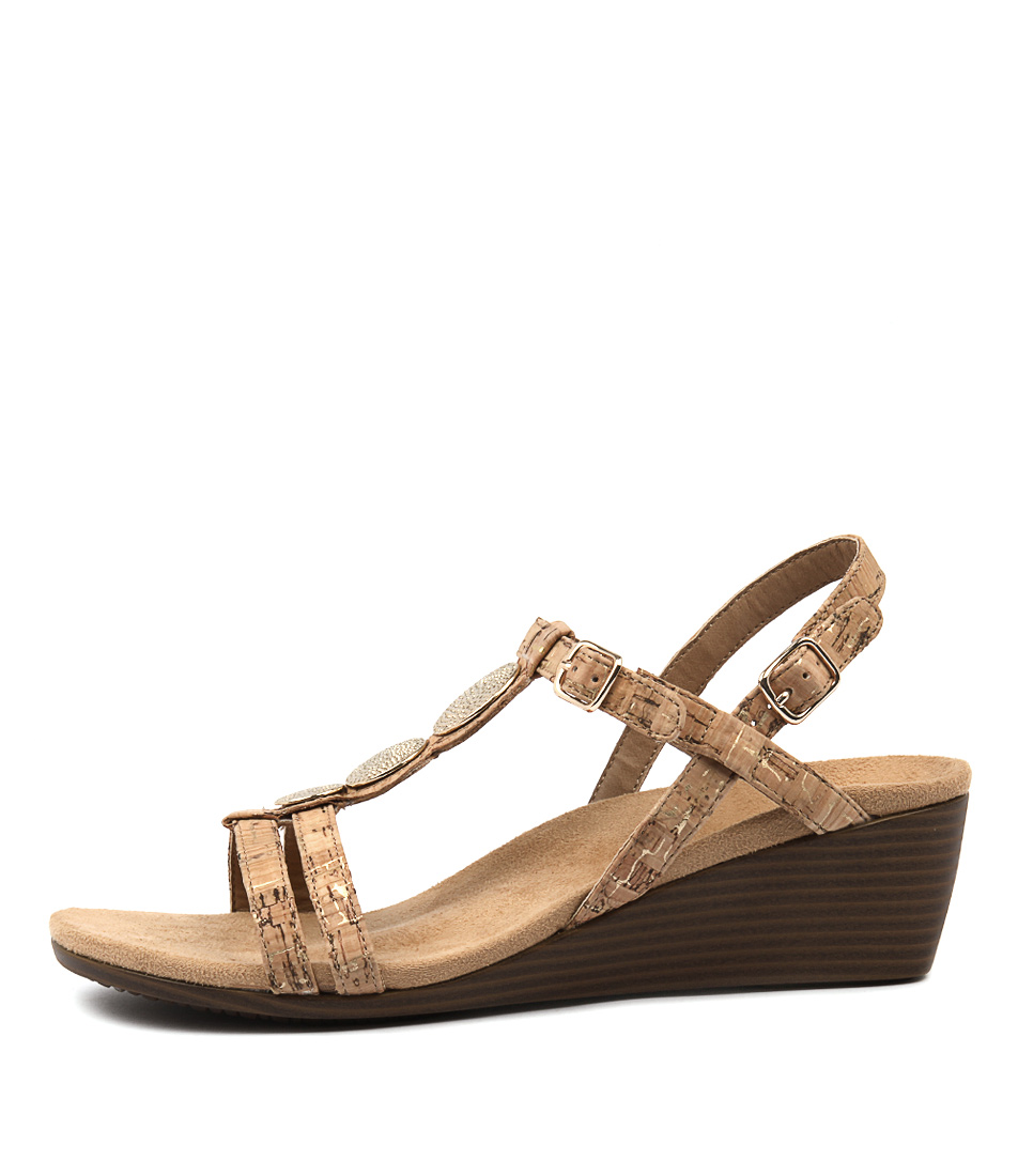 Vionic Park Noleen Gold Heeled Sandals