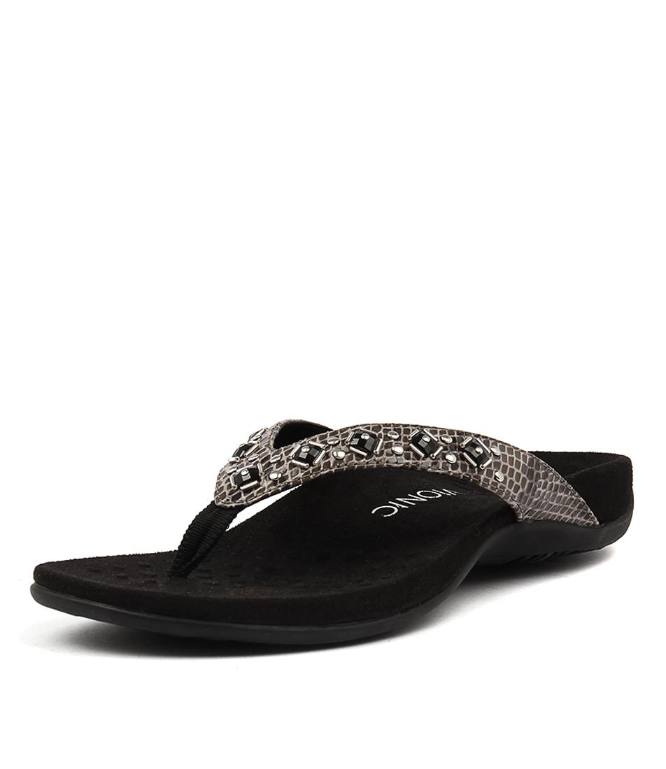 Vionic Rest Floriana Grey Snake Sandals