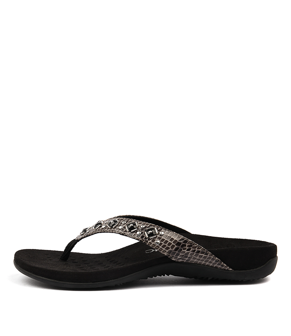 Vionic Rest Floriana Grey Snake Sandals