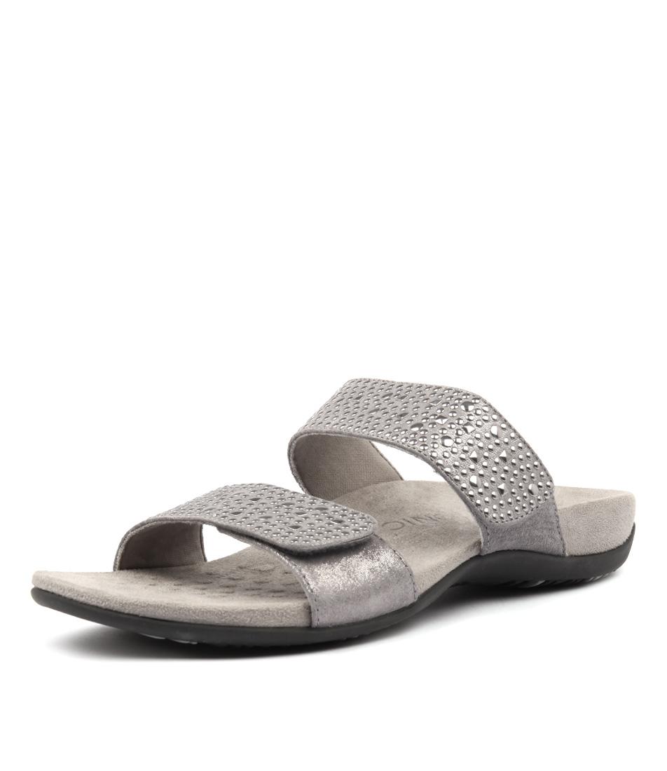 Vionic Rest Samoa Pewter Casual Flat Sandals