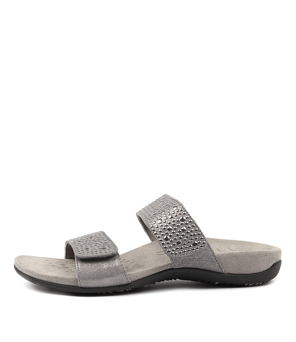 Vionic Rest Samoa Pewter Casual Flat Sandals
