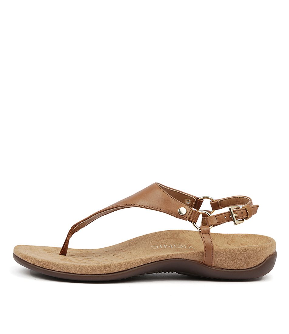 Buy Vionic Rest Kirra Tan Flat Sandals online with free shipping