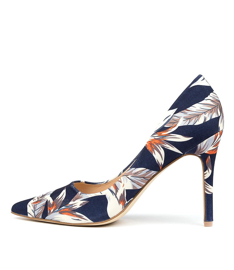 Buy Verali Harold Navy Print High Heels online with free shipping