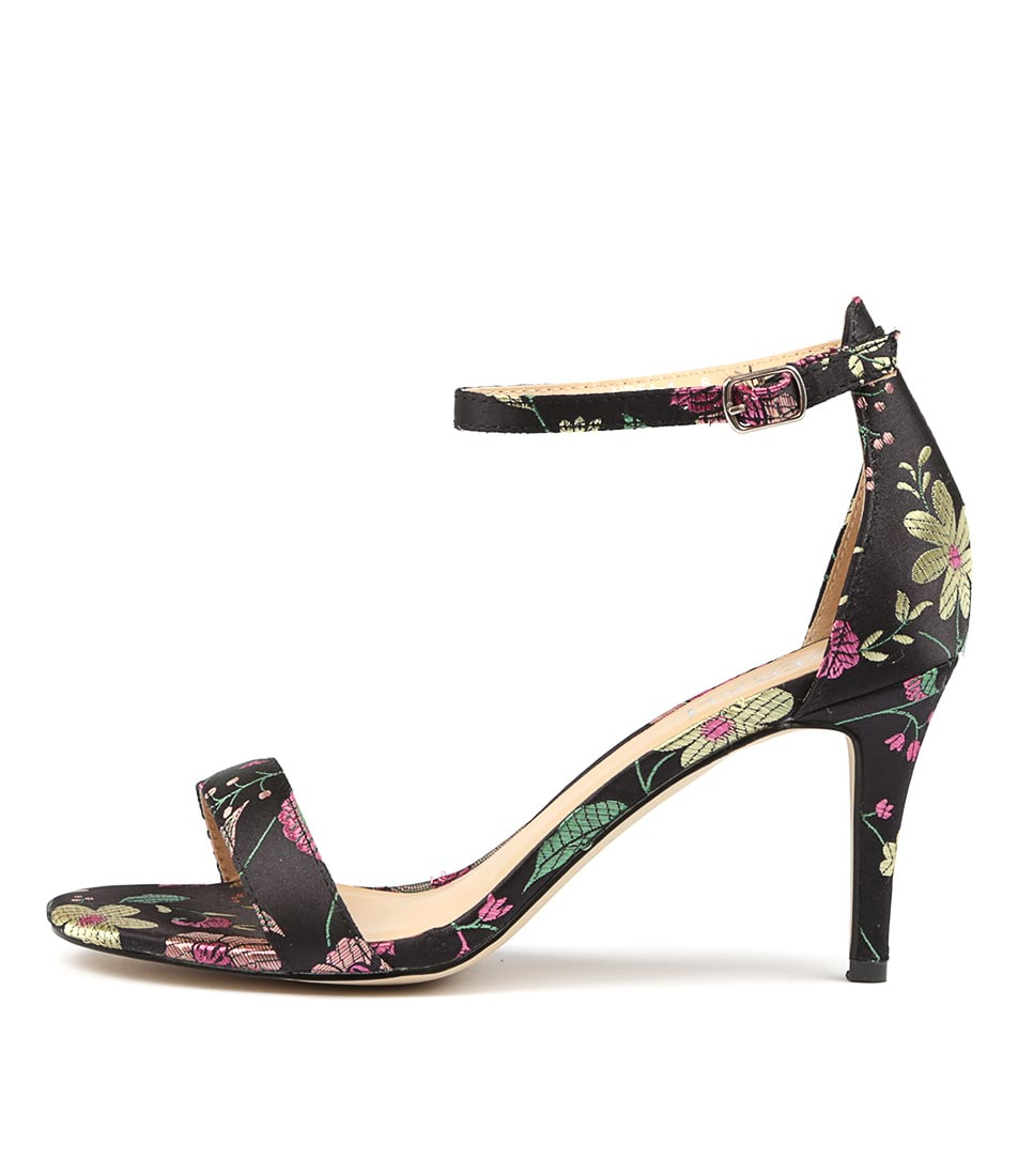 Buy Verali Matthew Black Print Multi Heeled Sandals online with free shipping