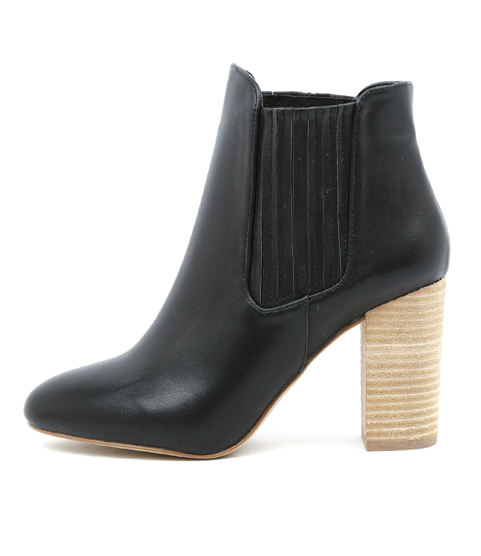 Verali Princess Black Dress Ankle Boots